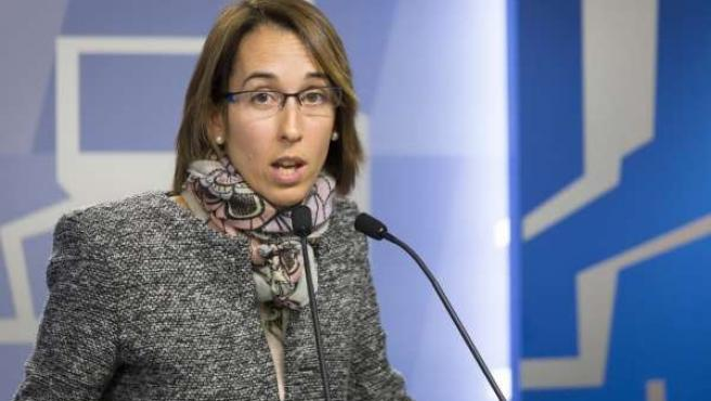 Natalia Rojo, ante el Parlamento vasco