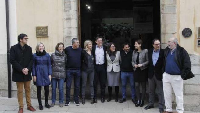Consell de la Generalitat Valenciana en el seminari d'Hivern en Morella