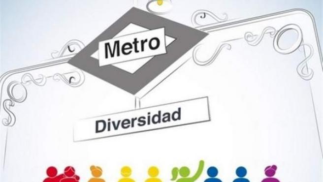 Cartel del Metro de Madrid contra la homofobia