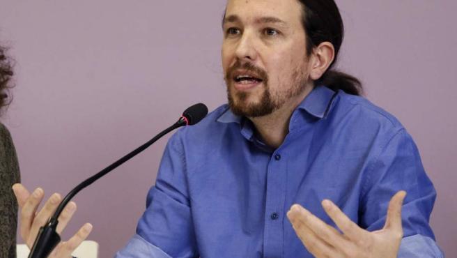 Pablo Iglesias en rueda de prensa.