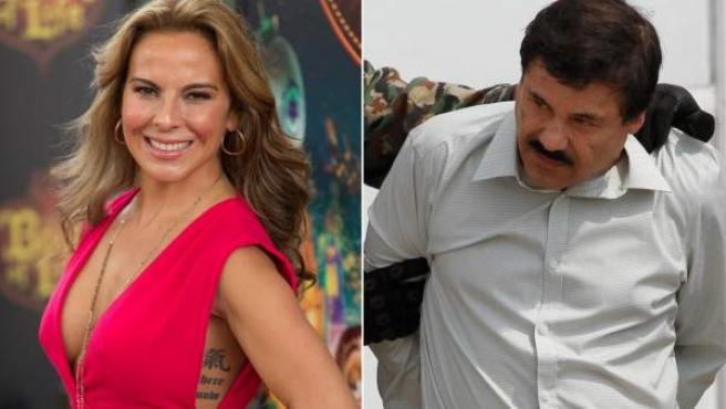 La actriz Kate del Castillo y el 'Chapo' Guzmán, en imágenes de archivo.