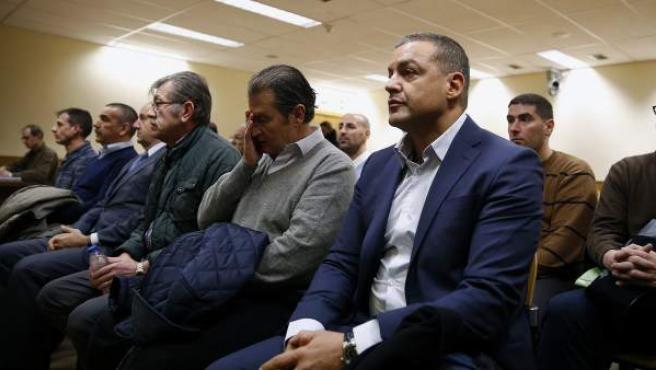 Miguel Ángel Flores, en el banquillo de los acusados durante el juicio por el caso Madrid Arena.