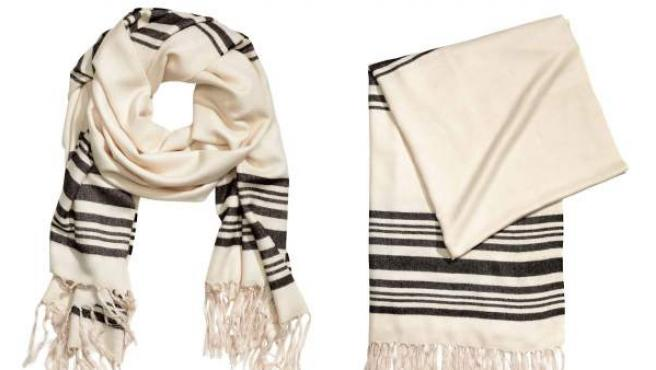Fular de H&M similar al talit judío.