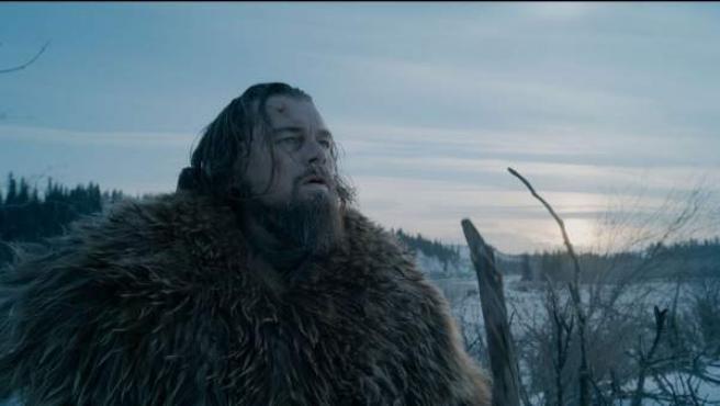 Leonardo DiCaprio en El renacido.