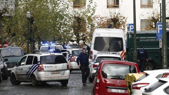 Coches de la policía en Bélgica.