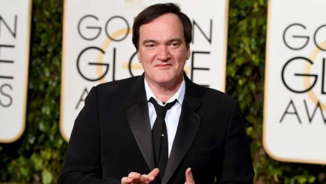 El director de cine Quentin Tarantino, en los Globos de Oro 2016.