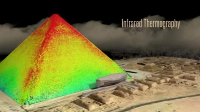 Distribución de las temperaturas en la pirámide de Keops.