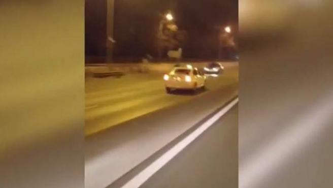 Un taxista kamikaze en la Autovía de Toledo, en Madrid.