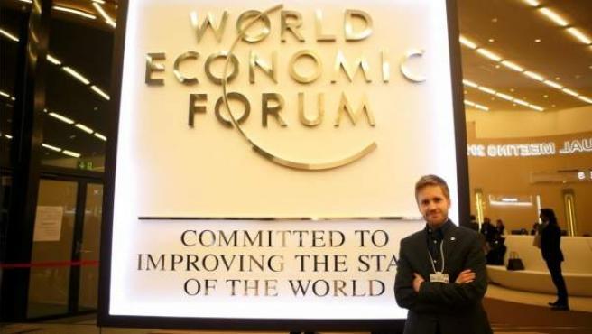 Isaac García Castro, en el Foro Económico de Davos 2016.