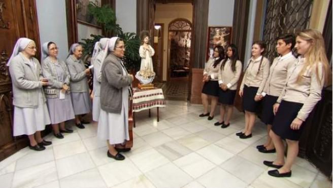 Imagen de las participantes en el docurreality 'Quiero ser monja'.