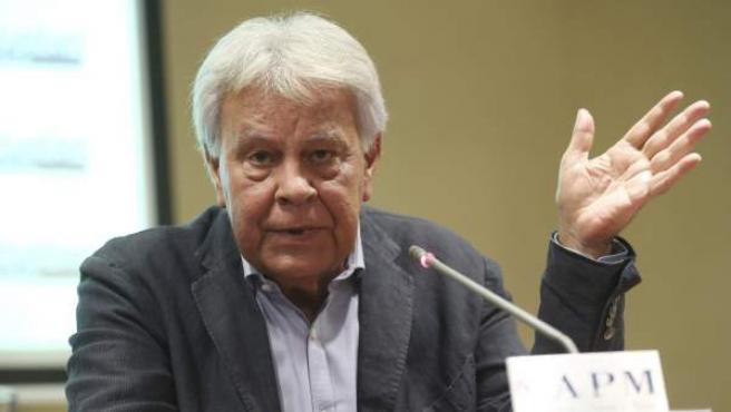 Felipe González comparece tras su viaje a Venezuela.