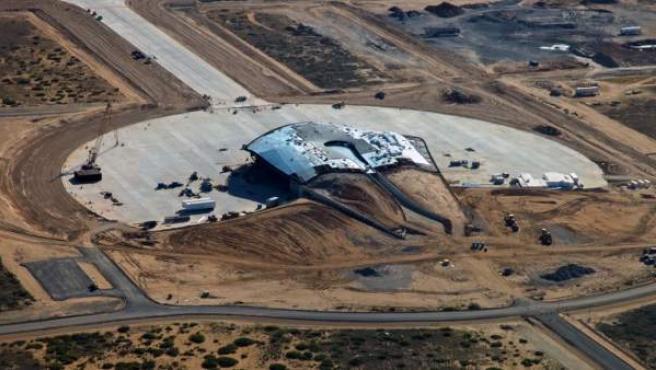 Imagen aérea de la New Mexico Spaceport Authority, donde Google pone en práctica su proyecto Skybender.