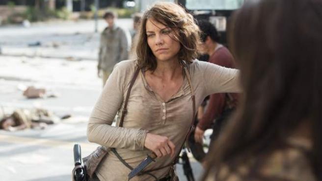 La actriz Lauren Cohan, en su papel de Maggie Greene en la serie 'The Walking Dead'.