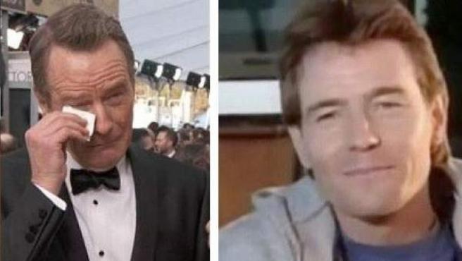 Así reaccionó el actor Bryan Cranston al verse a sí mismo en 1989, en un capítulo de 'Los Vigilantes de la Playa'.