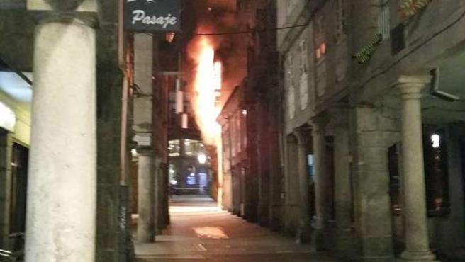 Incendio en Pontevedra