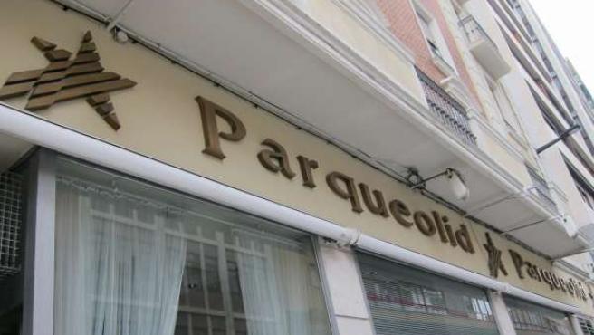 Antigua oficina de Parqueolid en la calle Divina Pastora