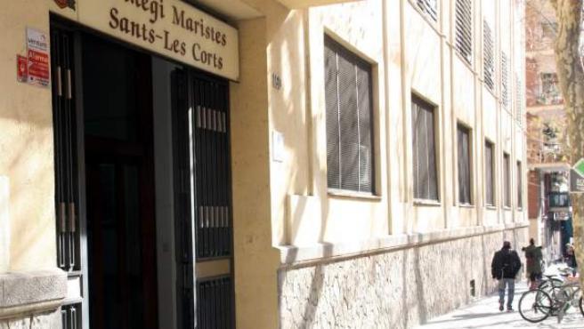 Plano general de la escuela Maristes Sants-Les Corts de Barcelona, donde un profesor de gimnasia ha sido denunciado por abusos sexuales.