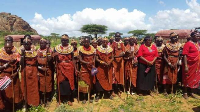Mujeres de la etnia keniata de Samburu.