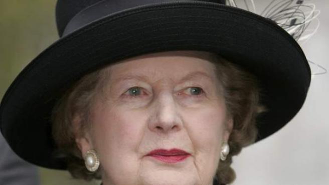 Fotografía del 8 de noviembre de 2005 de la ex primera ministra británica Margaret Thatcher.