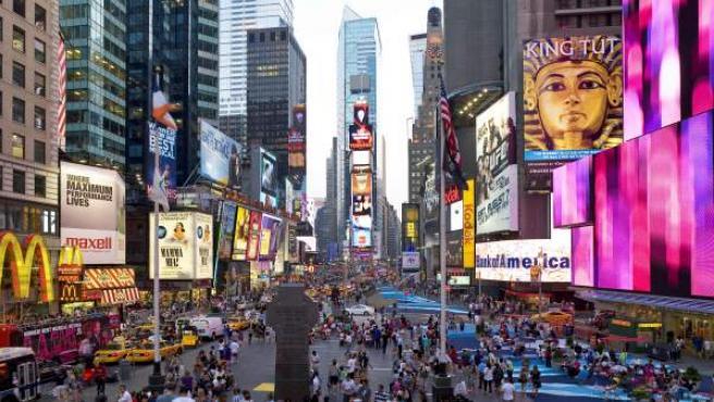 La publicidad ha convertido Times Square, intersección de Manhattan entre Broadway y la Séptima avenida, en un icono mundial.