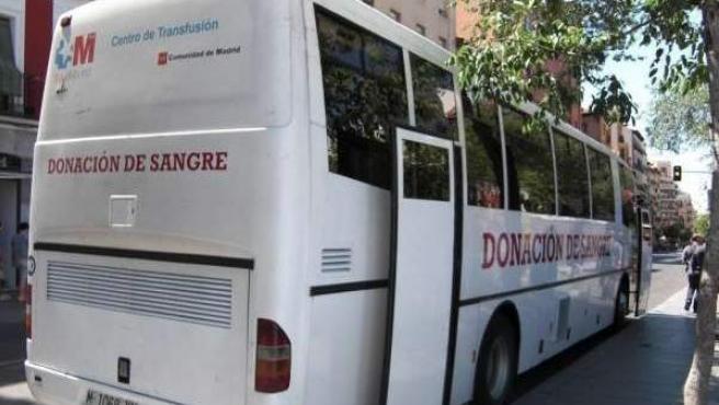 Unidad de donación de sangre en la Comunidad de Madrid.