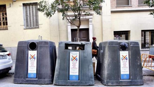 Los contenedores de la capital están sufriendo numerosos actos de vandalismo.