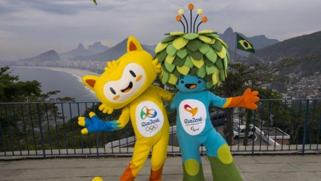 Las Mascotas de los Juegos Olímpicos de Río 2016.
