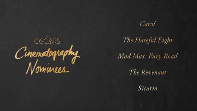 [Oscar 2016] ¿Quién ganará el Oscar de mejor fotografía?