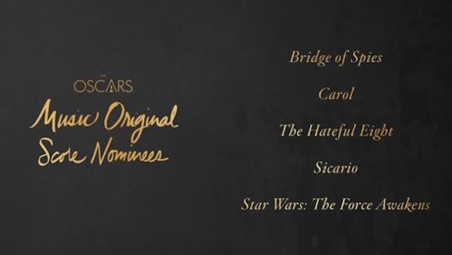[Oscar 2016] ¿Quién ganará el Oscar de mejor banda sonora?