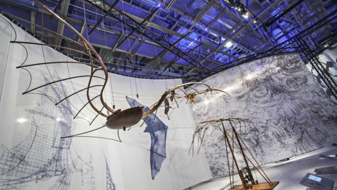 Vista de la exposición 'Leonardo da Vinci: The Mechanics of Genius' ('Leonardo da Vinci: la mecánica del genio'), en el Science Museum de Londres