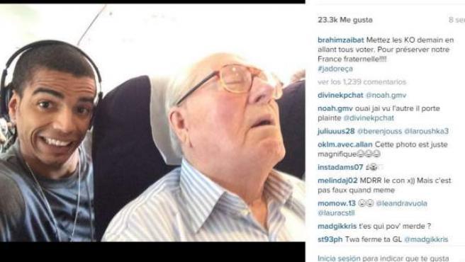Le Pen ha conseguido que Brahim Zaibat tenga que retirar la imagen de su cuenta en Instagram.