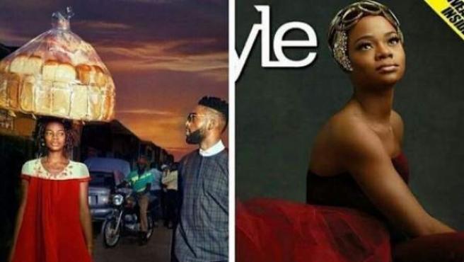 Olajumoke Orisaguna es una vendedora callejera de Nigeria que gracias a su aparición casual en un reportaje de moda se ha convertido en modelo.