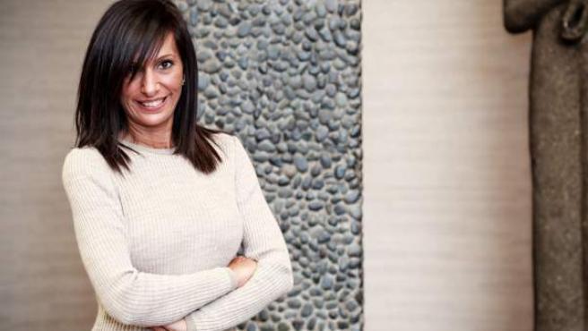 Mónica Ceide, en la imagen promocional de 'Casados a primera vista'.