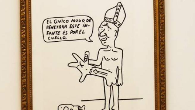 Infantecura, obra creada por el artista Enseban Estéreo y que fue retirada de la exposición GD_22 de Valencia.