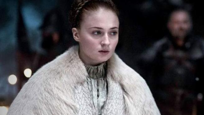 Sophie Turner, en el papel de Sansa Stark durante la boda con Ramsay Bolton en la serie 'Juego de tronos'.