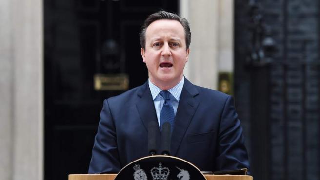 El primer ministro británico, David Cameron, anunciando la fecha del referéndum sobre la permanencia del Reino Unido en la UE.