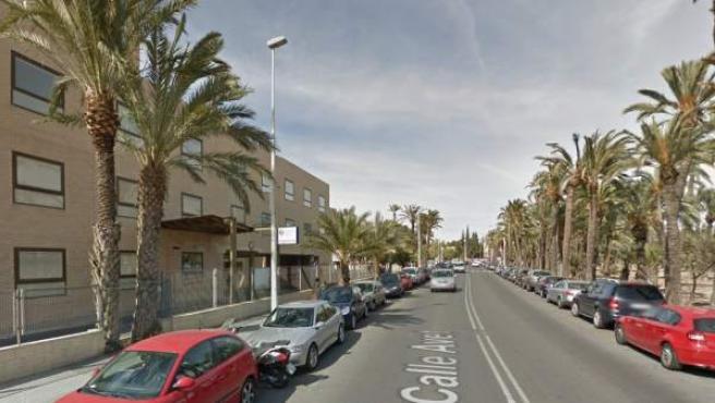 Entrada a las urgencias del Hospital General de Elche (Alicante).
