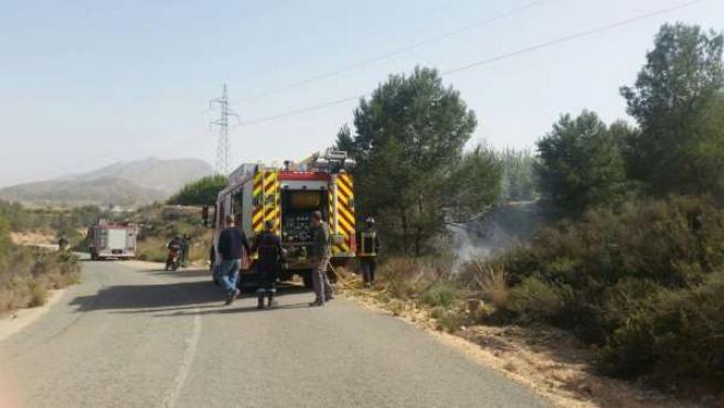 Conato incendio forestal en Santomera