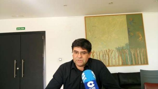 Miguel Ángel Pavón este lunes en su despacho