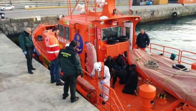 Inmigrantes llegados a Ceuta