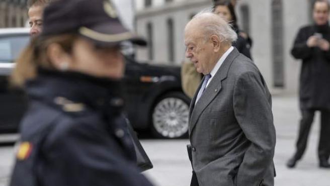Jordi Pujol, a su llegada a la Audiencia Nacional.