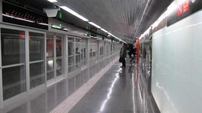 Estación de la L9 del Metro de Barcelona.
