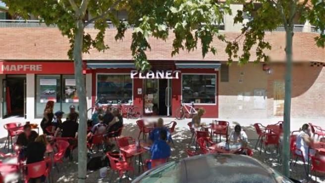 Bar donde han sido encontrados dos cadáveres con signos de violencia en Zaragoza.