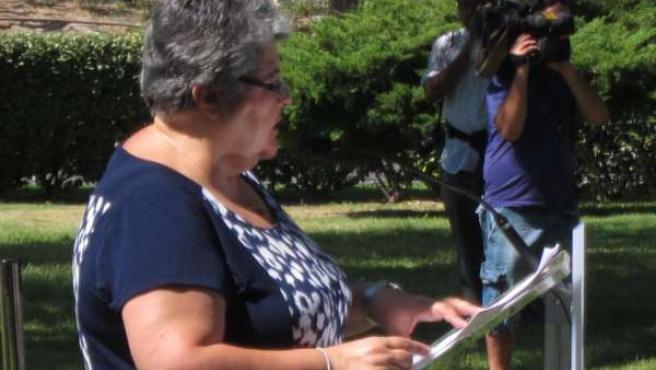 Pilar Vera, presidenta de la Asociación de Afectados del Vuelo JK5022
