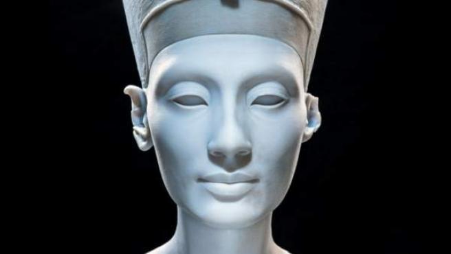 Reproducción en 3-D del busto de Nefertiti.