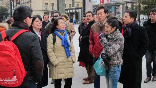 Turistas chinos en Zaragoza