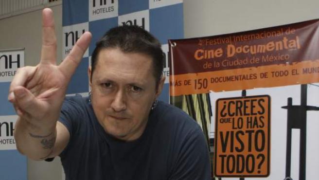 Fermín Muguruza, durante su estancia en el Festival Internacional de Cine Documental de México.