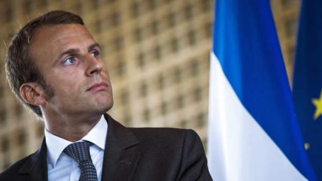 El exministro de Economía francés, Emmanuel Macron.