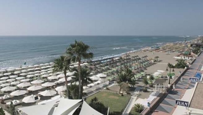 Chiringuito, playa, Málaga, turismo, Costa del Sol, turistas, verano