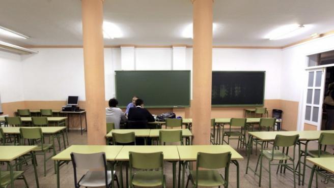 Un aula de Instituto de Educación Secundaria.